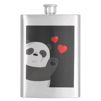 Cute panda hip flask