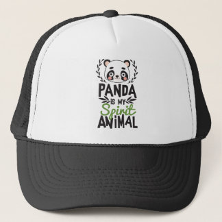 Cute Panda Is My Spirit Animal Print Trucker Hat