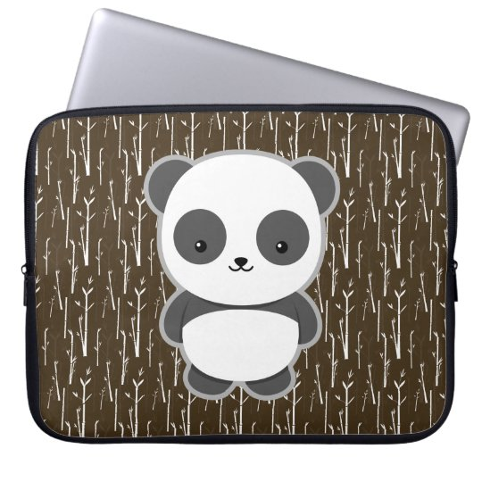 Cute Panda Laptop Sleeve