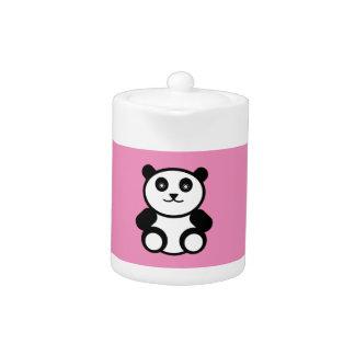 Cute Panda on Pastel Pink