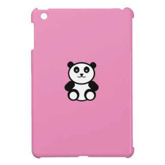 Cute Panda on Pastel Pink Cover For The iPad Mini