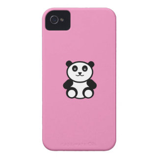 Cute Panda on Pastel Pink iPhone 4 Case