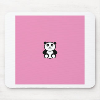 Cute Panda on Pastel Pink Mouse Pad