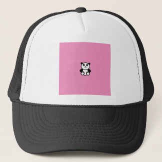 Cute Panda on Pastel Pink Trucker Hat