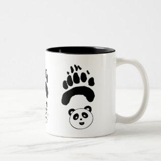 Cute Panda Paw Two-Tone Coffee Mug