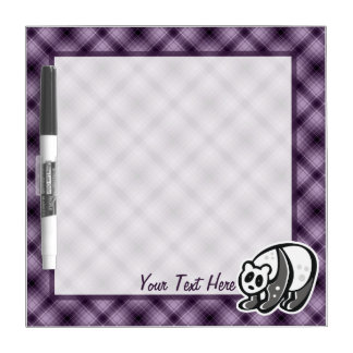 Cute Panda; Purple Dry-Erase Whiteboard