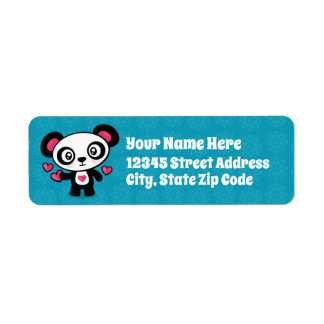 Cute Panda return address labels