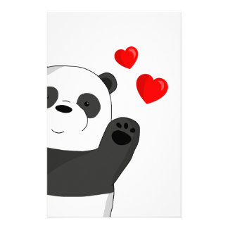 Cute panda stationery