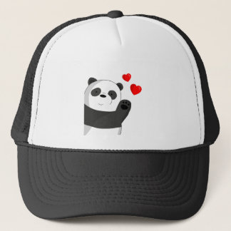 Cute panda trucker hat