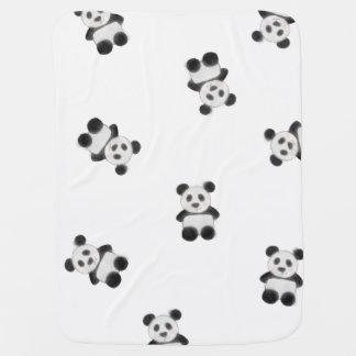 Cute Panda Watercolor Drawing Pattern Baby Blanket