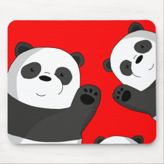 Cute pandas mouse pad