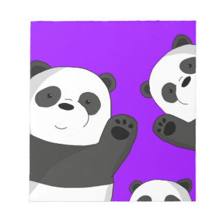 Cute pandas notepad