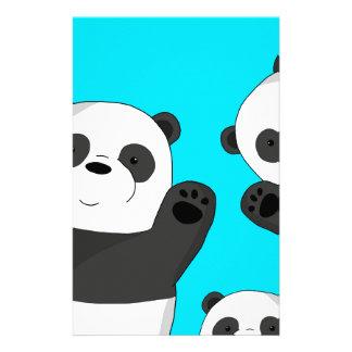 Cute pandas stationery