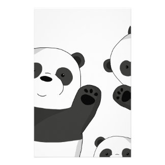 Cute pandas stationery