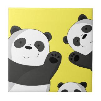 Cute pandas tile