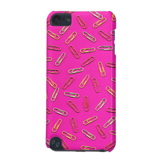 CUTE Paper Clip Pattern on Pink iPod Touch 5G Case