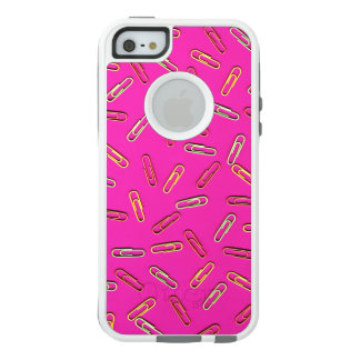 CUTE Paper Clip Pattern on Pink OtterBox iPhone 5/5s/SE Case