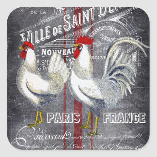Cute Paris roosters any purpose sticker