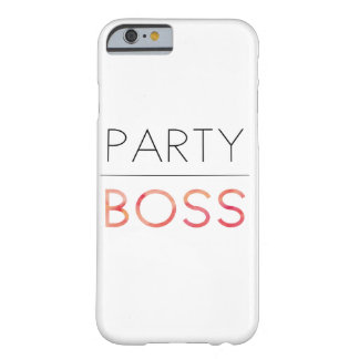 Cute Party Boss Barely There iPhone 6 Case