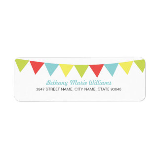 Cute Party Flags Address Labels