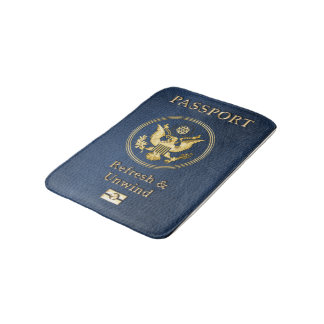 Cute Passport Cover Relax And Unwind Shower Mat Bath Mats