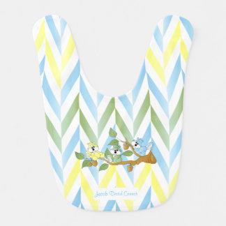 Cute Pastel Blue Squirrel Design Bib