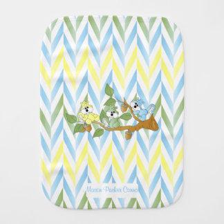 Cute Pastel Blue Squirrel Design Burp Cloth