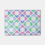 Cute pastel checks sticky note pad