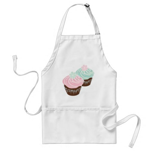 Cute Pastel Frosted Cupcakes Apron