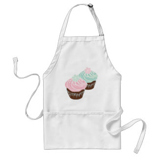 Cute Pastel Frosted Cupcakes Standard Apron