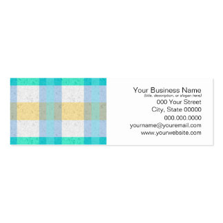Cute Pastel Plaid Pattern Pack Of Skinny Business Cards