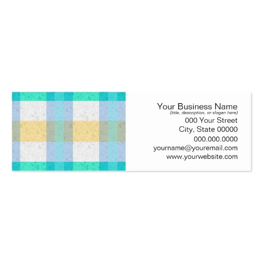Cute Pastel Plaid Pattern Business Card Templates