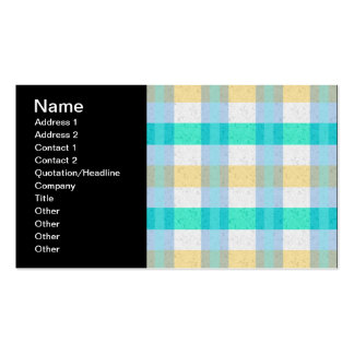 Cute Pastel Plaid Pattern Pack Of Standard Business Cards