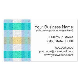 Cute Pastel Plaid Pattern Business Card Template