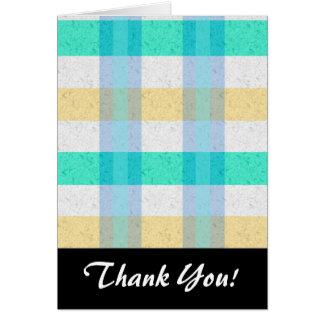 Cute Pastel Plaid Pattern Note Card