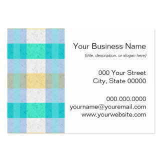 Cute Pastel Plaid Pattern Pack Of Chubby Business Cards