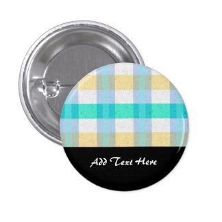 Cute Pastel Plaid Pattern Pins