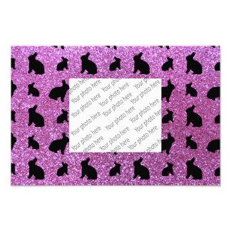 Cute pastel purple bunny glitter pattern photo