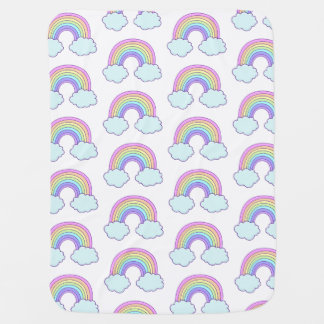 Cute Pastel Rainbow Baby Blanket