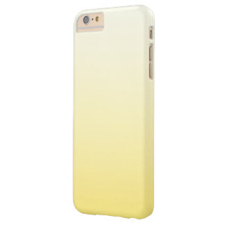 Cute Pastel Sunny Yellow Ombre Barely There iPhone 6 Plus Case