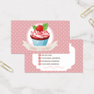Cute Pastry Chef Cupcake Business Cards