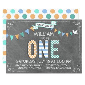Cute Patchwork Print Letters Chalkboard Birthday Card