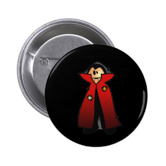 CUTE PATCHY DRACULA VAMPIRE 6 CM ROUND BADGE