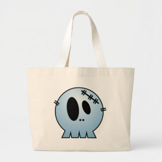 CUTE PATCHY SKULL - BLUE BAG