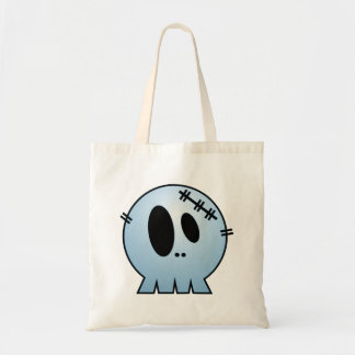 CUTE PATCHY SKULL - BLUE TOTE BAGS