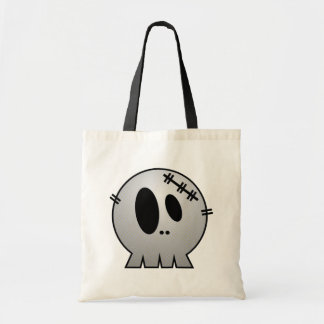 CUTE PATCHY SKULL - GREY BW BAGS