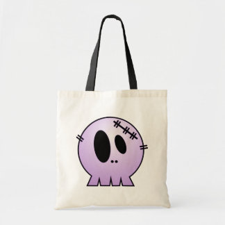 CUTE PATCHY SKULL - PURPLE TOTE BAGS
