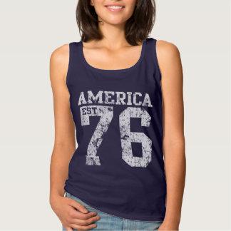 Cute Patriotic America Est 1776 Singlet