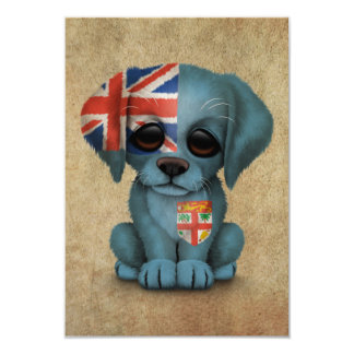 Cute Patriotic Fiji Flag Puppy Dog, Rough Announcements