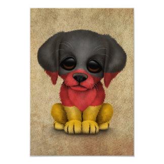 "Cute Patriotic German Flag Puppy Dog, Rough 3.5"" X 5"" Invitation Card"